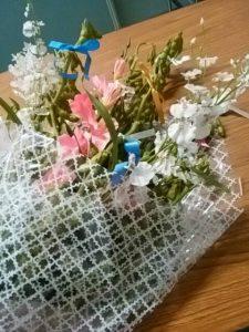 枝豆を使った花束